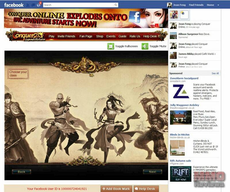 Conquer Online for Facebook: Gameplay Impressions
